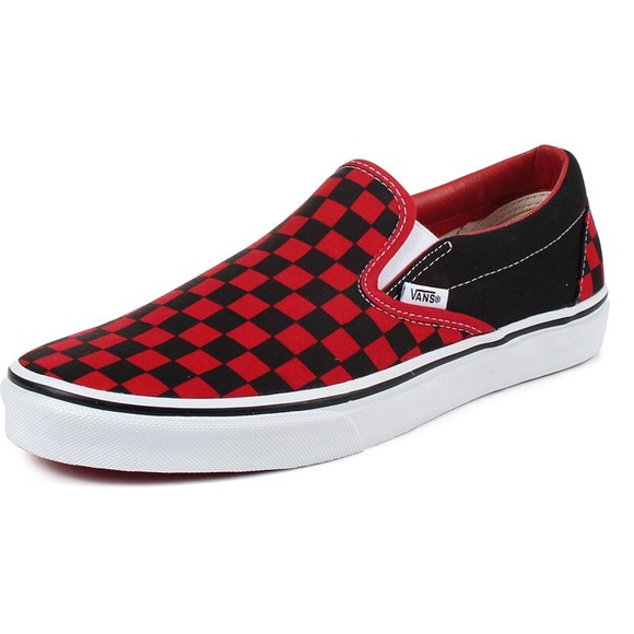 466c7af7a90 Vans Red Checkerboard Slip On Sneakers W 10  M 8.5.  M 5b665b27de6f624f5db89131